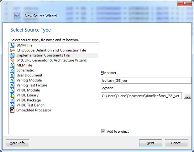 Creating the .bit - New Source wizard